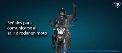 Lenguaje motociclista para rodar